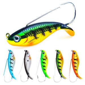 "2018 Lot 10 pcs long 3.75/"" Fishing Lures Crankbaits Hooks Minnow Baits Tackle US"