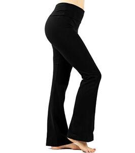Women Premium Perfect Fit Flare Yoga Pants 28 Inseam Xs 5x 32 Colors Usa Ebay