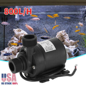 Ultra-Quiet-Mini-DC-12V-Lift-5M-800L-H-Brushless-Motor-Submersible-Water-Pump-US