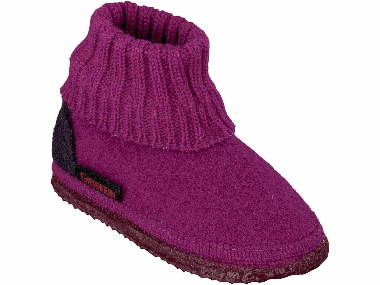 Chauds Cabanes Chaussures Taille 27 - 35 Giesswein Kramsach Pantoufles Baie Lavable Rouge