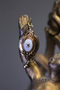 Antique-Victorian-Biedermeier-Anhaenger-585-Gold-Achat-Rubin