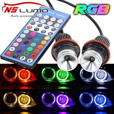 Bluetooth Phone Control LED Angel Eyes RGB halo ring for BMW E39 E53 E60 E61 E63