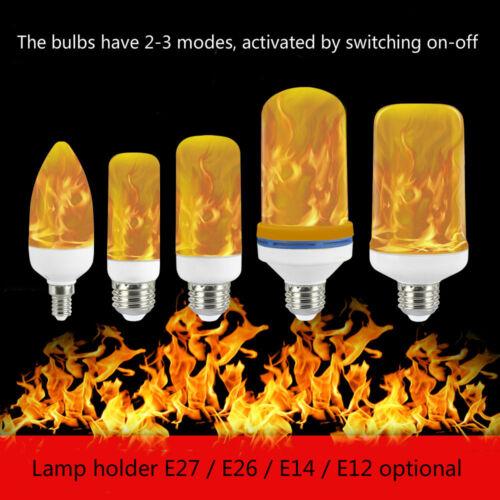 Led burning flicker flame effect fire light bulb  candelabra E27 lamp simulated