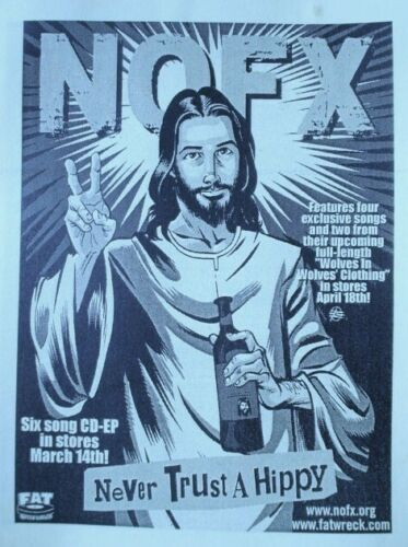 Never Trust A Hippy NOFX Poster, New from Dealer