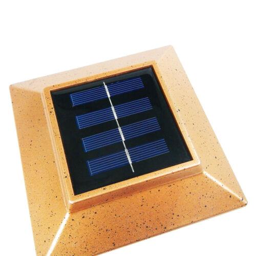 18 Pack Outdoor Garden Solar LED Post Deck Cap Square Fence Light Landscape Lamp