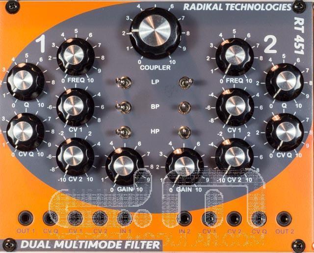 Radikal Technologies RT-451  Eurorack Filter Modul  Neu Detroit Modular]