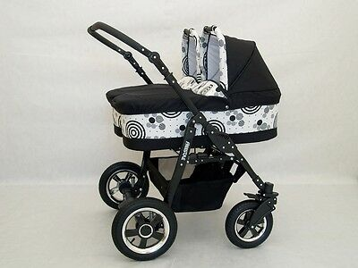 DOUBLE , TWIN PRAM 2 PUSHCHAIR UNIT 2 CARY COTS AND ALL ACCESSORIES