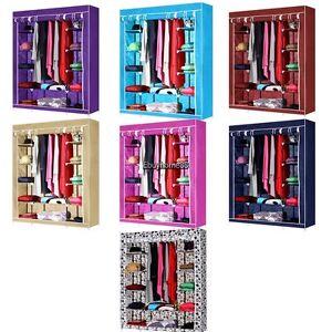 Image Is Loading Wardrobe Armoire Closet Fabric Storage Clothes Bedroom Organizer