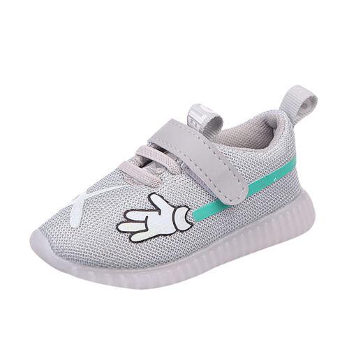 Kids Toddler Boys Girls Sport Running Shoes LED Light Up Luminous Mesh Sneakers