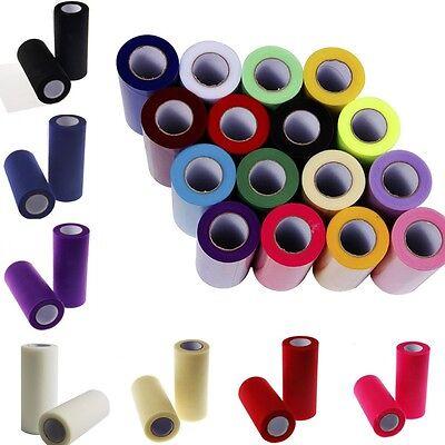 "TULLE ROLLS SPOOL 6""x 25 yards New Polyester Tutu Netting Wedding Bridal Fabric"