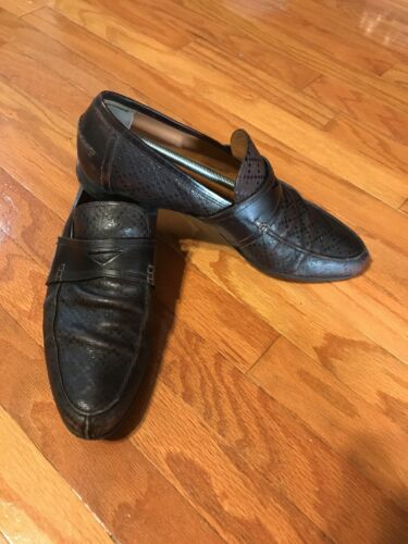 Gucci 'Anderson' Moccasin Brown Leather Size 11