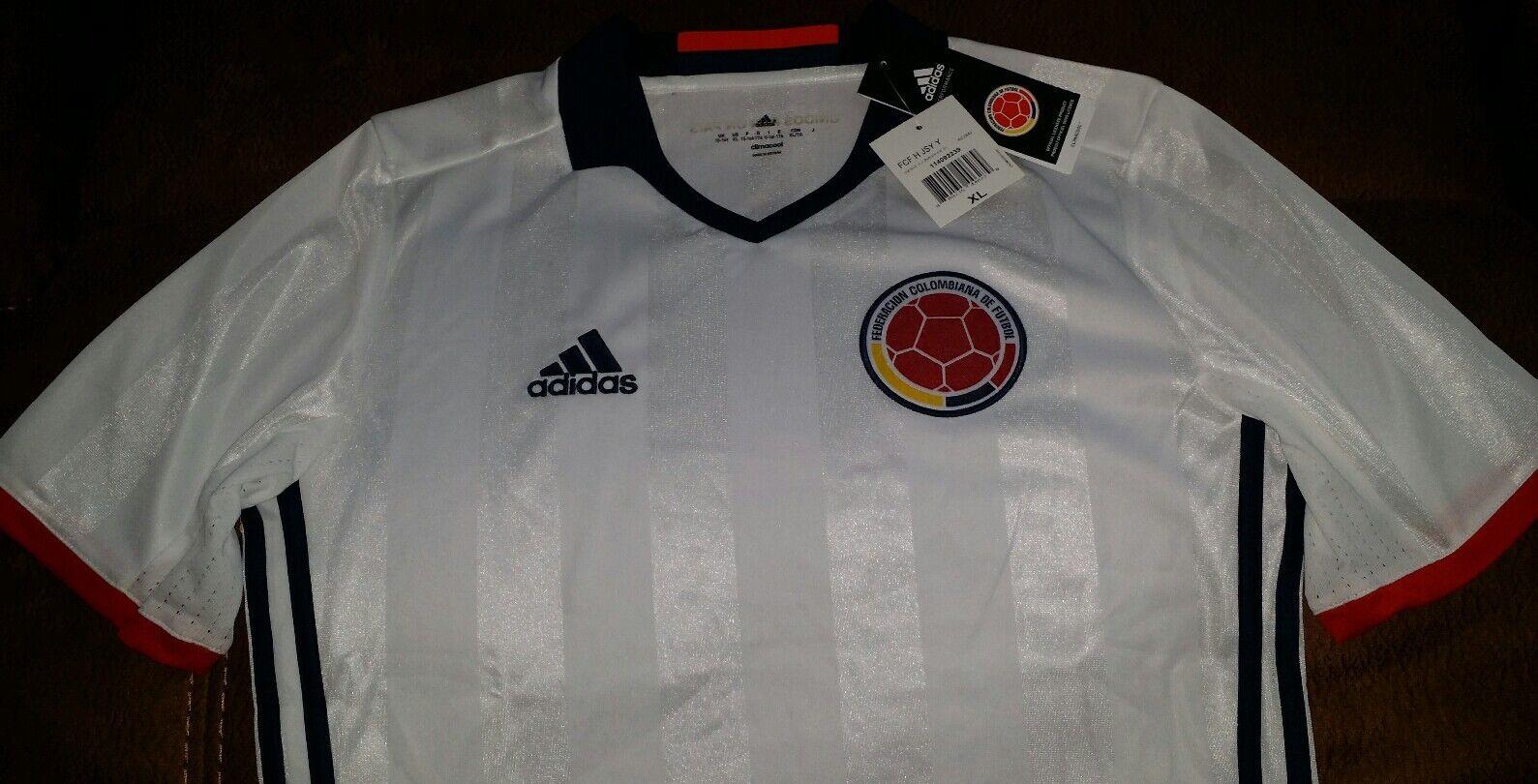 Adidas white colombia calcio calcio il calcio colombia jersey nwt taglia xl della gioventù 901e12