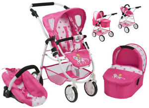 Bayer-Chic-2000-Puppenwagen-Emotion-All-In-3in1-Pony-amp-Princess