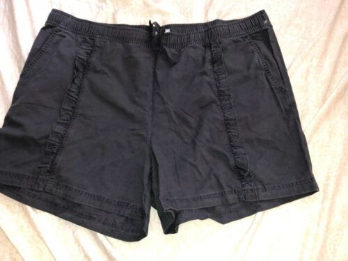 Susina Womens Shorts Plus Size 3X Gray Blue Pull On Elastic Waist Pockets NEW