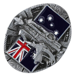 Men/'s Big Metal Knight Belt Buckle Western Cowboy Australian Flag