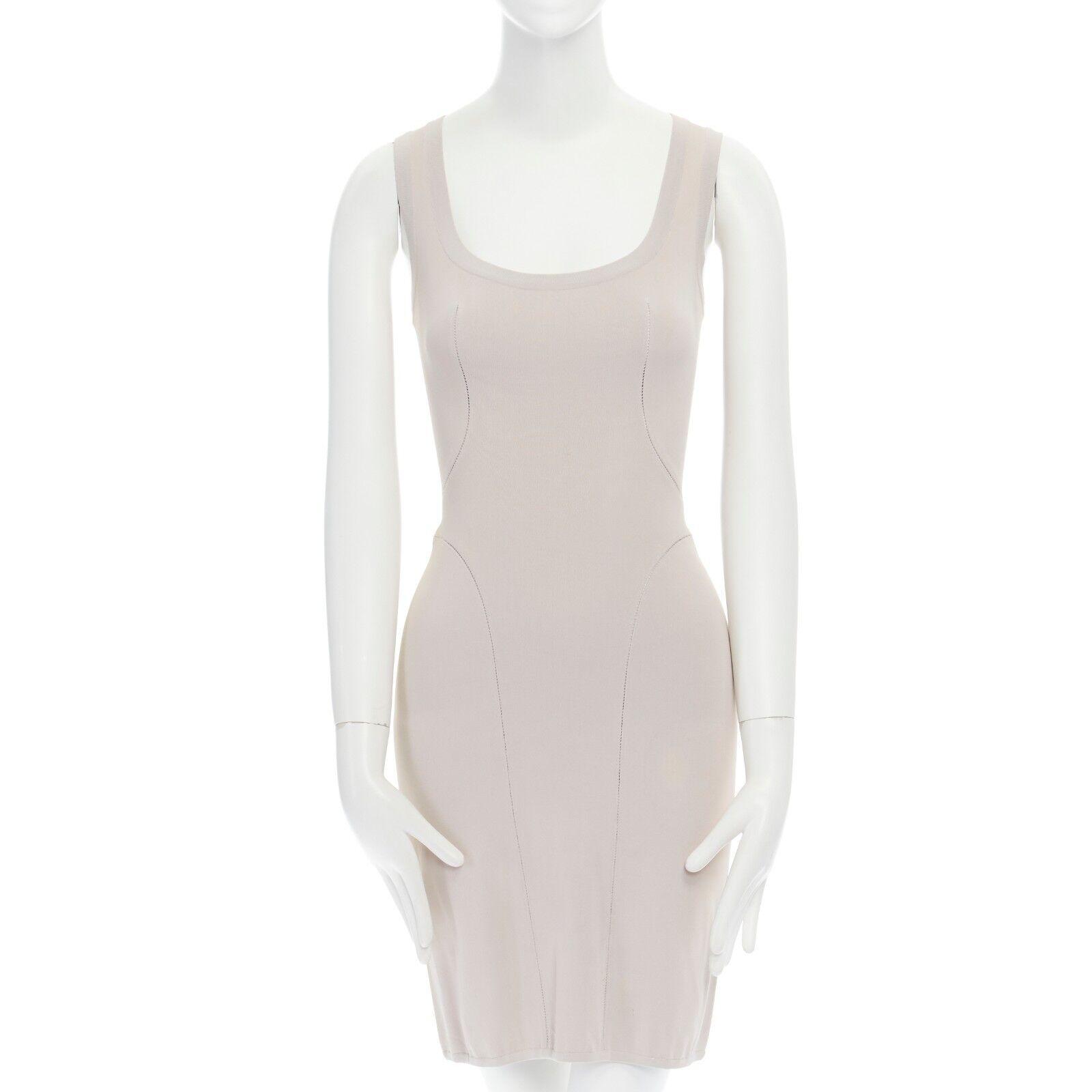 Mini vestido ALAIA  luz púrpura escalera Costuras Bodycon Stretch XS US28 FR36 IT40  ordenar ahora