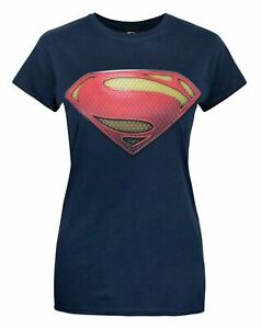 Superman-Man-of-Steel-Women-039-s-T-Shirt