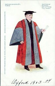 1902-Oxford-University-Robes-Graduate-Doctor-of-Science-or-Letters-Postcard