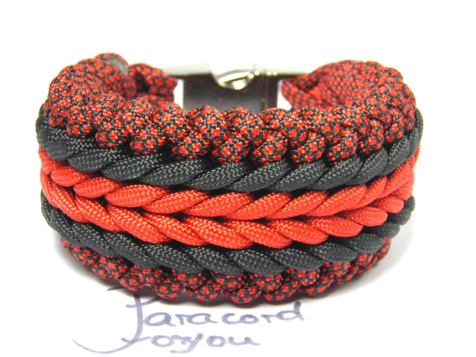 Paracord Bracelet-Extra Large 4 cm-Handmade-Unisexe-Paracord Bracelet Bracelet Bracelet 48c73c