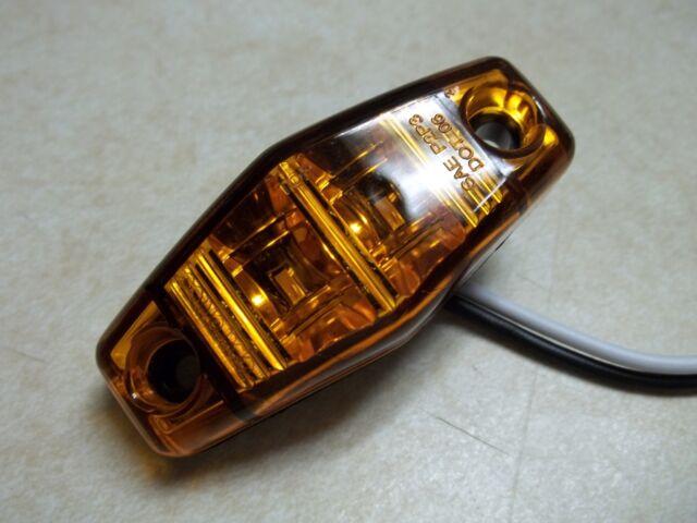 LED Light 2 Diode AMBER 1x2.5 surface mount Marker Trailer Clearance side 6