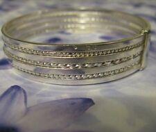 Bracelet Jonc Semainier Torsadée et Lisse 65 mm Argent Massif 925 Dolly-Bijoux
