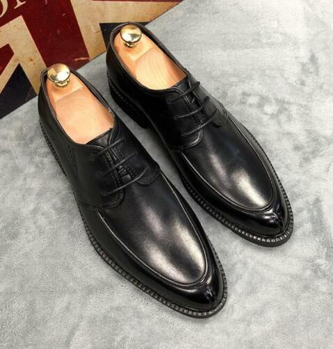 Mens Casual British Wedding Leather Pointy Toe Formal Dress Work Business Shoes