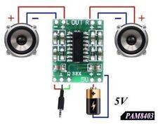 MINI AMPLIFICATORE DIGITALE 3 + 3W 2,5-5V CLASSE D MODULO PAM8403