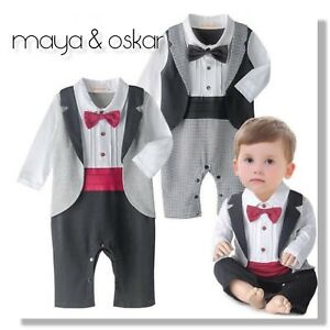 e157d3e70 Baby Boy All-in-One Suit Wedding Christening Formal Party Smart ...