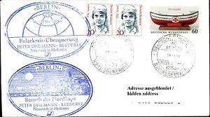 Adaptable Schiffspost Navire Ms Berlin Cercle Polaire Traversée Cap Nord Norvège Trajet Lettre-afficher Le Titre D'origine ArôMe Parfumé