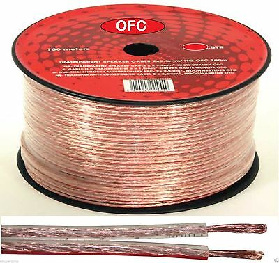 20m 2 X 2.5mm 322 Strands Speaker Wire High Quality Genuine Oxygen Free Cable