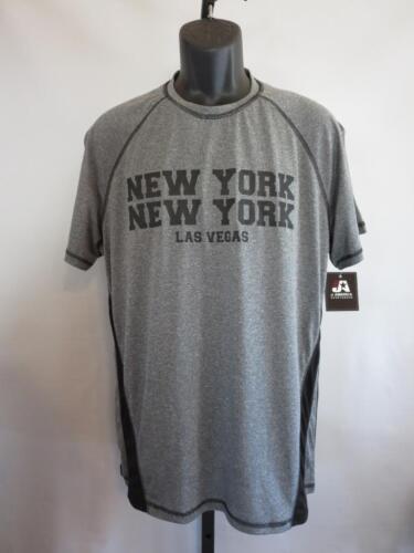 L Gray Athletic Shirt by J.America New Las Vegas New York New York Mens Large