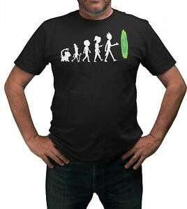 The-Evolution-Of-Rick-amp-Morty-T-Shirt-Adults-Sizes-Black-100-Cotton-Shirt