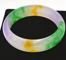 Chinese Natural Beautiful Lavender Green Nephrite Jade Bangle Bracelet 61mm