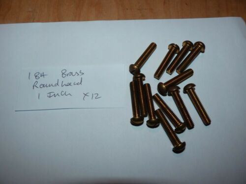 1 BA Brass Roundhead  Screws 12 screws 1    inch    long