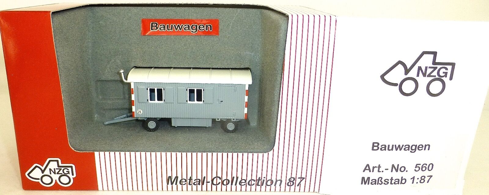 Bauwagen super super super Modell grey NZG 560 Metall Collection 1 87 OVP HA1 µ a346b8