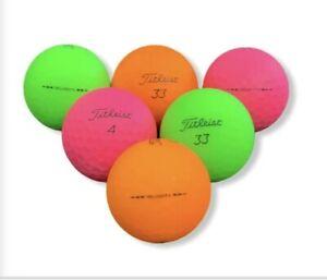 Titleist Velocity Balls 12ct -  Mint to near mint / Assorted Matte Colors