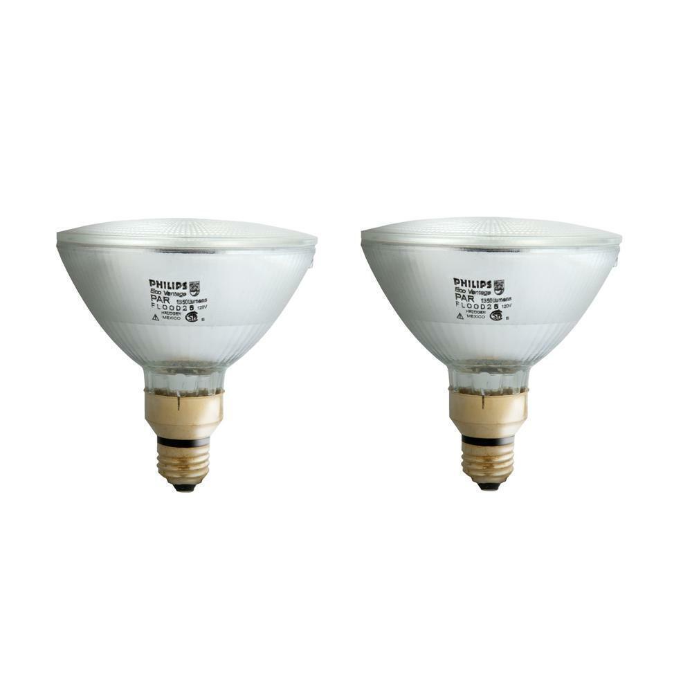 90 Watt PAR38 Halogen Indoor/Outdoor Flood Light Bulb 2 ...