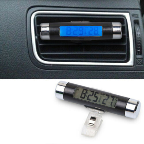 2 in 1 Car Auto Thermometer Clock Calendar LCD Display Screen Digital back light