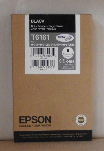 Epson T6161 Tinte black schwarz für B-300 B-310N B500DN B-510DN   2019 OVP A