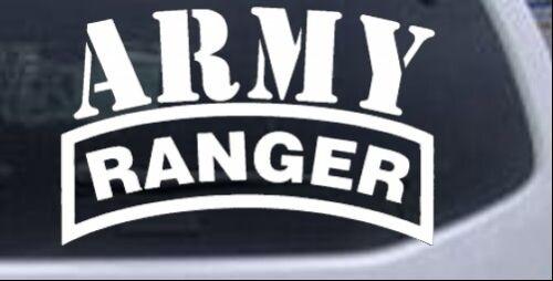 Army Ranger Car or Truck Window Laptop Decal Sticker White 6X3.9