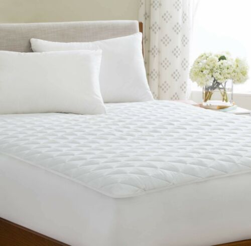40cm EXTRA DEEP QUILTED MATTRESS PROTECTOR 100/% COTTON SINGLE SMALL DOUBLE KING