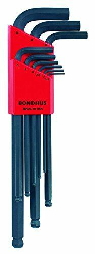 Bondhus 10999 Set of 9 Balldriver« L-wrenches sizes 1.5-10mm