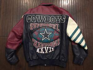 Vintage 🔥 Jeff Hamilton NFL Dallas Cowboys Superbowl XXVII Chaqueta ... b559711865e7