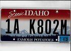 """IDAHO 2013 license plate """"1A K802M"""" ***NATURAL***MOTOR HOME***."""