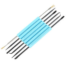 6pcs Circuit Board Cleaner Brass Brush Chiplifter Tool Set Blue B8s1 B3