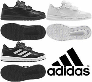 Adidas-Boys-Shoes-Kids-Altasport-School-Casual-Running-Trainers-Black-White