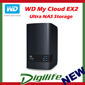 Details about Western Digital WD My Cloud EX2 Ultra 20TB 2-Bay NAS Personal  Cloud Storage