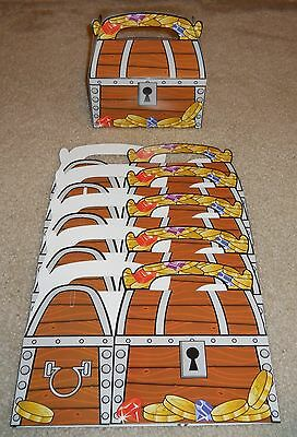 Treasure chest treat boxes PIRATE birthday party loot favors lot of 6 12 18 & 24