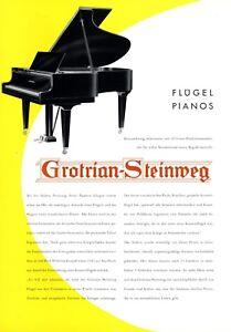 Piano Grotrian Steinweg Braunschweig Xl Publicité 1956 Ailes Piano Publicité-afficher Le Titre D'origine Prix De Vente Directe D'Usine
