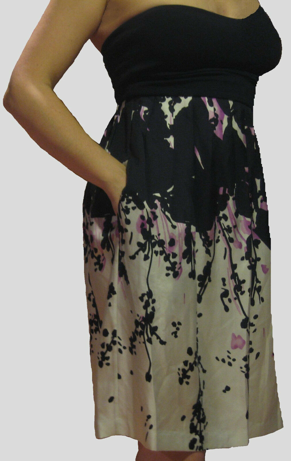 NWT Susana Monaco Floral Print Silk Dress